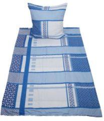 Stoffhanse CoolSummer Bettwäsche, blau MixMuster, 2-teilig