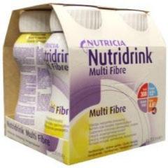 Nutridrink Multi fibre vanille 200 ml 4 Stuks