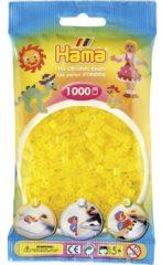 Gele Hama Strijkkralen 1000 Stuks Geel Doorzichtig