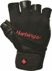 Harbinger Fitness Harbinger Men's Pro Fitness Handschoenen met Wrist Wrap - Zwart