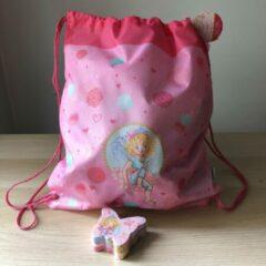 Roze Prinses Lillifee kinder sporttas trekkoord tas met mini handdoekje 30 x 60 cm - Die spiegelburg