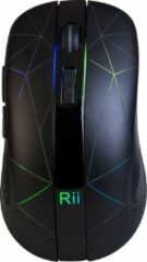 Zwarte Rii RM200 Wireless Mouse Black, LED, nano receiver, 5 button, switchable: 800/1200/1600 dpi