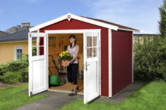 Rode WEKA | Tuinhuis 224 | 235 x 209 cm | Zweeds rood