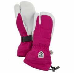 Hestra - Women's Heli Ski 3 Finger - Handschoenen maat 5 roze/grijs
