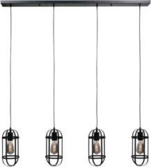 Goudkleurige Highlight Hanglamp Longo 4 lichts zwart