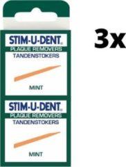 Stimudent Tandenstokers Mint - 3x 100 stuks - Voordeelverpakking