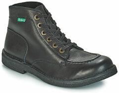 Zwarte Boots en enkellaarsjes Kickstoner by Kickers
