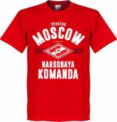 Retake Spartak Moskou Established T-Shirt - Rood - XS