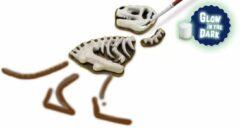 SES Creative gieten en schilderen T-Rex met skelet glow in the dark