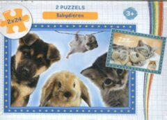 Ons Magazijn Puzzels 2x24 3+ - Babydieren - puzzel 2 x 24 stukjes