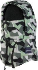 Poederbaas Nekwarmer Camo fleece Balaclava van Poederbaas (facemask) - Polyester Groen,Licht grijs,Zwart - One size