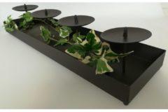 Kerzenständer mit 4 Kerzenhalter HTI-Line Braun