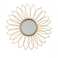 Xenos Spiegel zon - goudkleurig - 34 cm