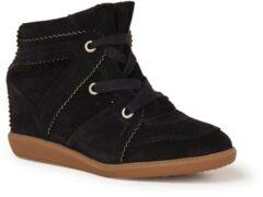 Zwarte Isabel Marant Bobby sneakerwedge van kalfssuède