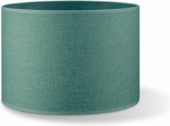 Blauwe Home sweet home lampenkap Canvas 30 - turquoise