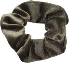Scrunchie kraagjeskopen.nl - velvet haarwokkel haarelastiek - groen - velvet scrunchies - 1 stuk