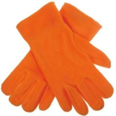 Bellatio Oranje fleece handschoenen M/l