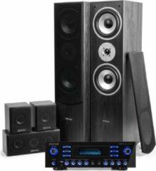 Surround set home cinema - Fenton home cinema surround set met 5 speakers + versterker met Bluetooth en mp3 speler - 510W - Zwart