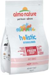 Almo Nature Cat Holistic Sterilised 2 kg - Kattenvoer - Rundvlees&Rijst Sterilised