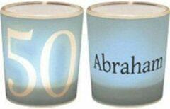 Blauwe Een lichtje voor jou -:) Waxinelichtjeshouder Abraham