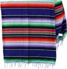 Handgeweven uit Mexico Mexicaanse Deken - Plaid - Serape - Gerecycled Acryl - 210 x 150 - Paars - BBXZZ0purple