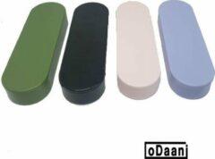 Herbruikbare Wattenstaafjes - 4 Doosjes Zwart + Groen + Roze + Paars - Wasbare Wattenstaafjes Duurzaam - oDaani