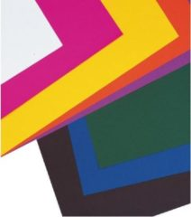 Rayher hobby materialen Tekenpapier vellen oranje 5 stuks 50 x 70 cm