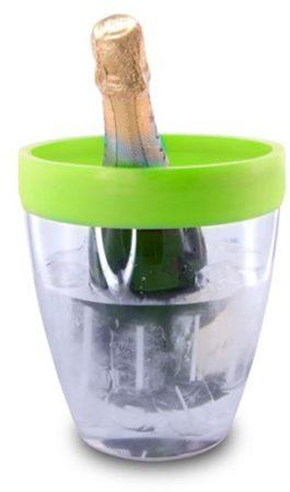 Afbeelding van Pulltex ICE BUCKET Silicone transparant + groene rand