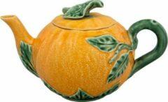 Oranje Bordallo Pinheiro Laranja Theepot - Sinaasappel - Aardewerk - 800 ml