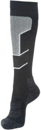 Afbeelding van Rewoolution - Ski Mid Socks - Merinosokken maat M, grijs/zwart/grijs/zwart/zwart/purper/blauw/beige/rood/blauw/zwar