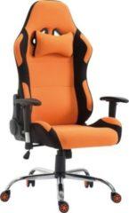 CLP Racing Bürostuhl ROSBERG mit hochwertiger Polsterung und Stoffbezug Höhenverstellbarer Drehstuhl mit Laufrollen Schreibtischstuhl mit Wippfunkti