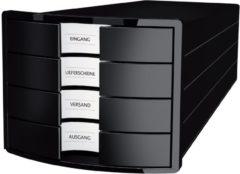HAN IMPULS 2.0 1012-13 Ladebox Zwart DIN A4, DIN C4 Aantal lades: 4