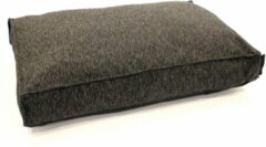 Antraciet-grijze Wooff Matraskussen Nano Antraciet - Hondenmatras - 120x80x18 cm