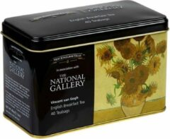 New English Teas The National Gallery v. Gogh Sun Flowers Tin 40 Teabags English Breakfast