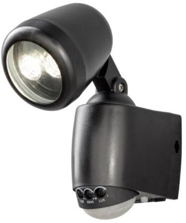 Afbeelding van Konstsmide 7693 - Wandlamp - Prato PowerLED neerw spot - 14 cm - bewegingsmelder - op batterij - 2x 0.5W - warmwit 3000K - matzwart