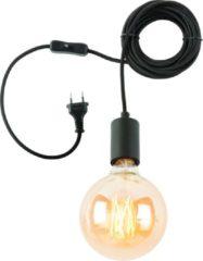 Zwarte Hangsysteem Oslo - 1-lamp - textieldraad 6m + kabelhouder - zwart - It's About Romi