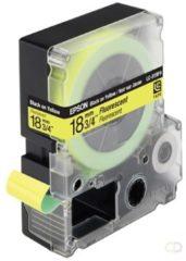 Epson fluorescerende tape breedte 18 mm, zwart/fluo geel