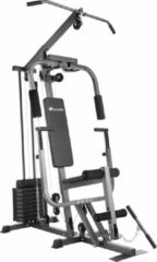 Grijze TecTake - Krachtstation home gym met bankdrukmodule - 402757