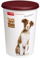 Bordeauxrode Sunware Twinga Huisdieren voerton - 45 l - wit/Bruin