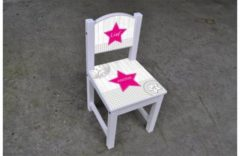 Witte De Fabriek Muurstickers Kinderstoeltje meisje bestickerd