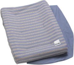 Blauwe Elodie Details Sandy Stripe Waskussenhoes