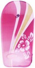 Merkloos / Sans marque Bodyboard - Roze -Surfboardje - Surfboard - Surfbord - 93cm - Inclusief touw met enkelband