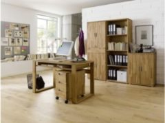 Baidani Designer Schreibtisch Daiva Massivholz mit Ablagefach