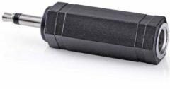 Valueline AC-004 kabeladapter/verloopstukje 3.5mm 6.35mm Zwart