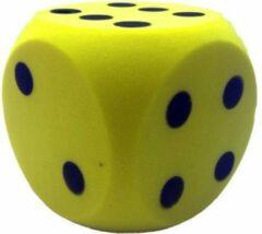 Gele Johntoy Dobbelsteen soft - foam - 16 centimeter