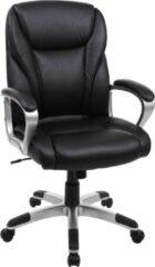 Zwarte Songmics Bureaustoel 360° Draaibaar - Bureaustoel Met Kantelmechanisme - Directiestoel