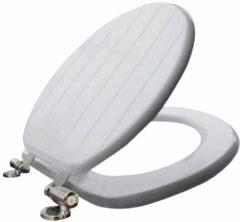 Go by Van Marcke Toilet Zitting Van Marcke Stripe Softclose MDF Wit