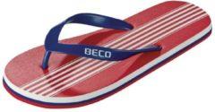 Beco Teenslippers Heren Rood/blauw Maat 43