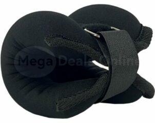 XQ Max Enkel- & Polsgewichten 2 x 1KG- Enkelgewichten - Fitness gewichten - Enkelbanden - Pilates gewichten - Zwart