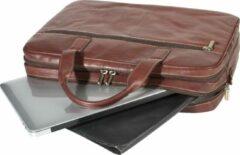 Tony Perotti Laptoptas 2-vaks 40 cm Donkerbruin